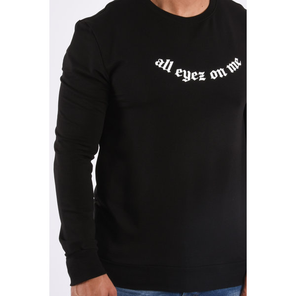 "Y Sweater ""all eyez on me"" Black"
