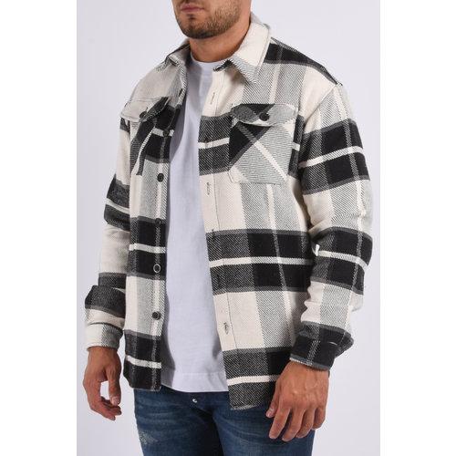 "Y Flannel jacket unisex ""marley"" Black / White"