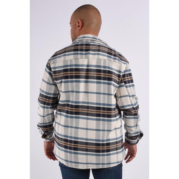 "Y Flannel jacket unisex ""marley"" Blue / Beige"