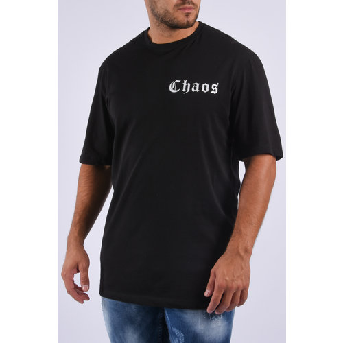"""Y T-shirt unisex """"chaos"""" Black"""