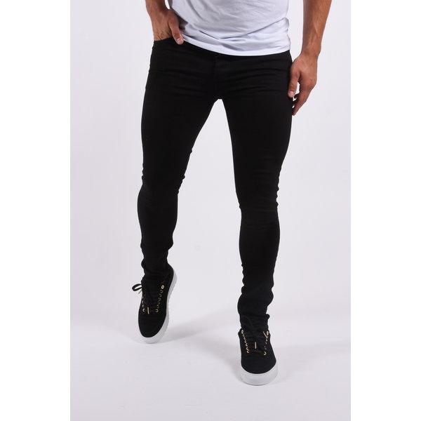 "Y KZ Skinny fit stretch jeans ""hunter"" Total Black"