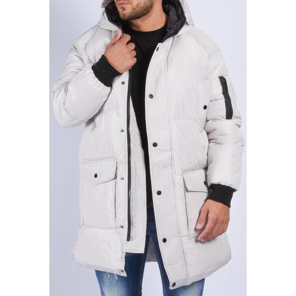 "Y Puffer jacket long ""bentley"" White"