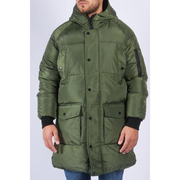 "Y Puffer jacket long ""bentley"" Green"