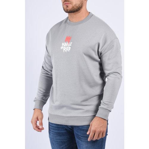 "Y Sweater ""kings of rap"" Grey"