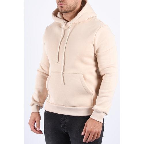 """Y Basic hoodie """"quency"""" warm gevoerd Beige"""