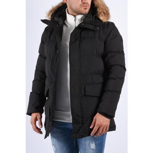 "Y Winter parka ""ragnar"" faux fur Black"