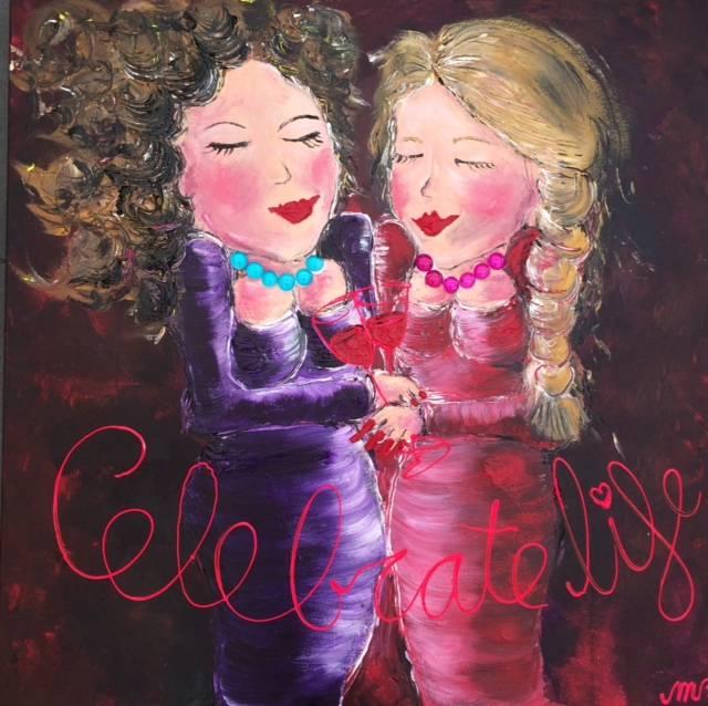 FEELGOOD schilderijen & producten Schilderij 'Celebrate life'