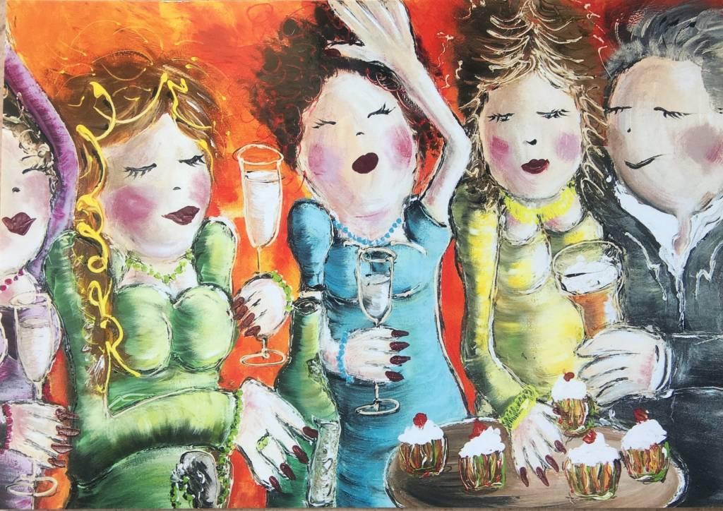 FEELGOOD schilderijen & producten Kaart 'PARTY TIME' A5