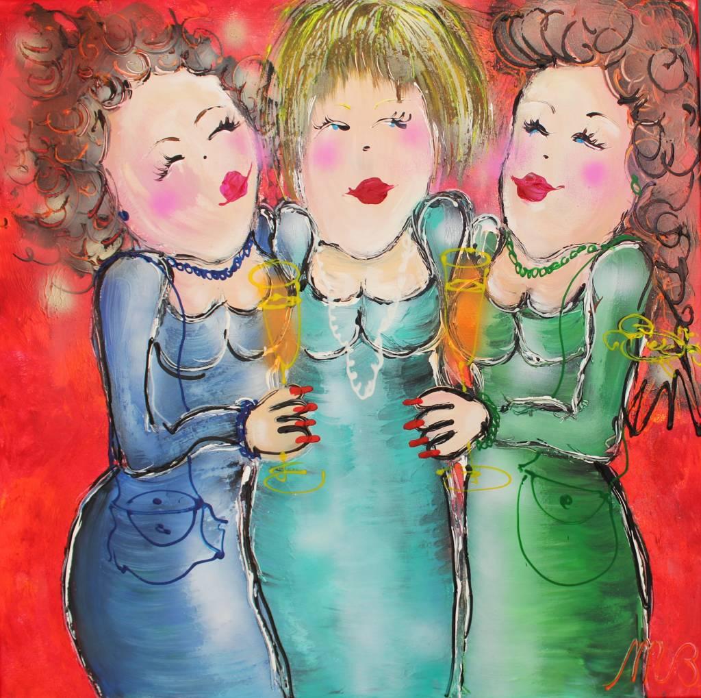 FEELGOOD schilderijen & producten Origineel 'Annie....' 80 x 80 cm