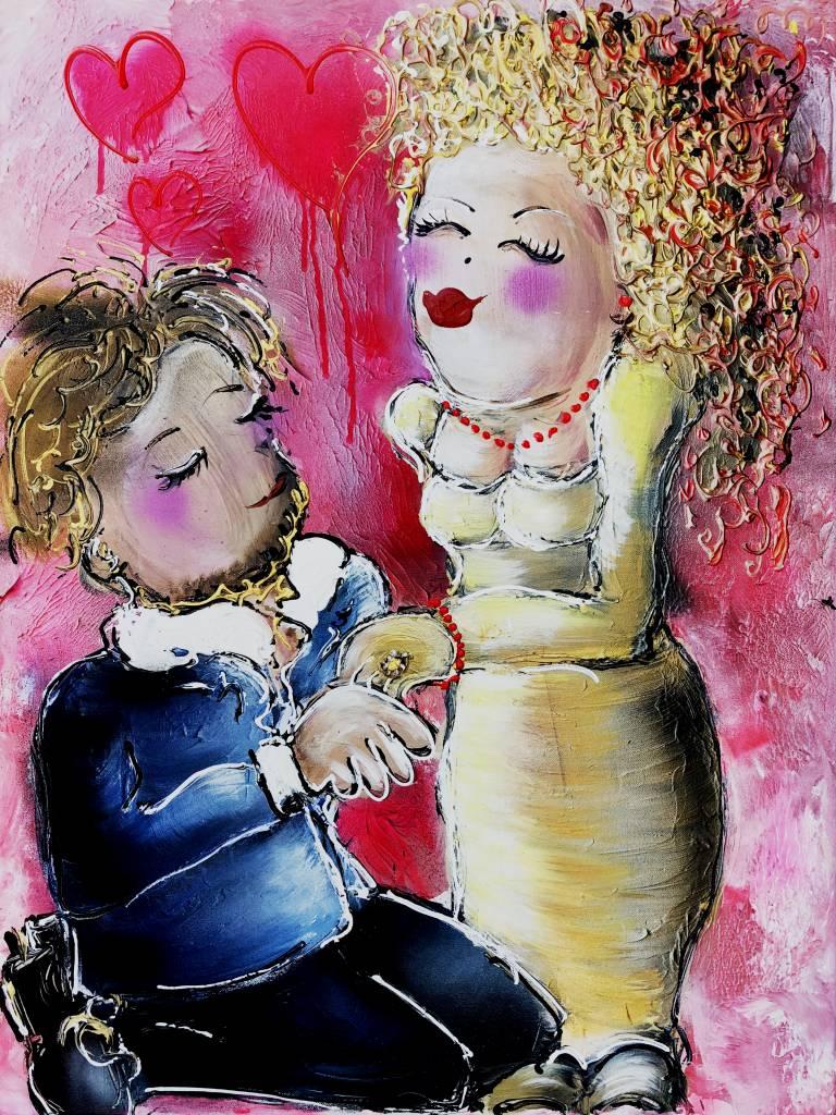 FEELGOOD schilderijen & producten Kunstdruk 'True love'