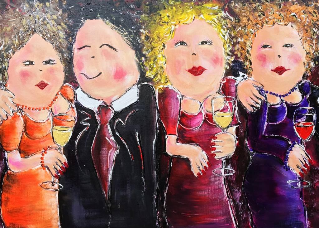 FEELGOOD schilderijen & producten Kunstdruk 'A night out'