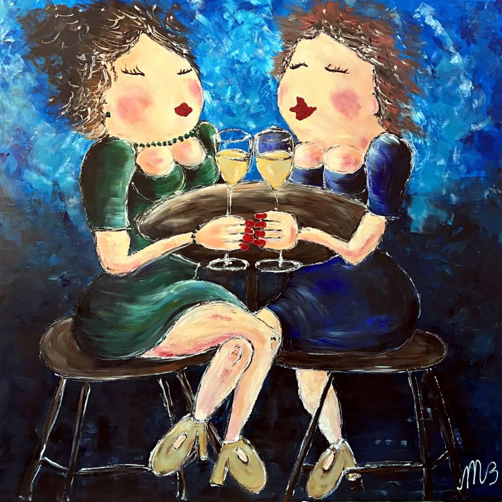 FEELGOOD schilderijen & producten Poster 'Girls Talk'
