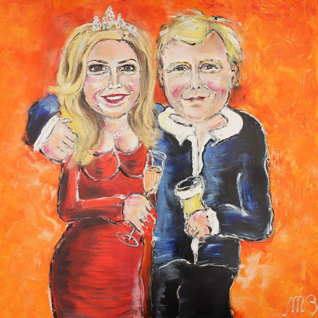 FEELGOOD schilderijen & producten Poster 'Willem & Maxima'