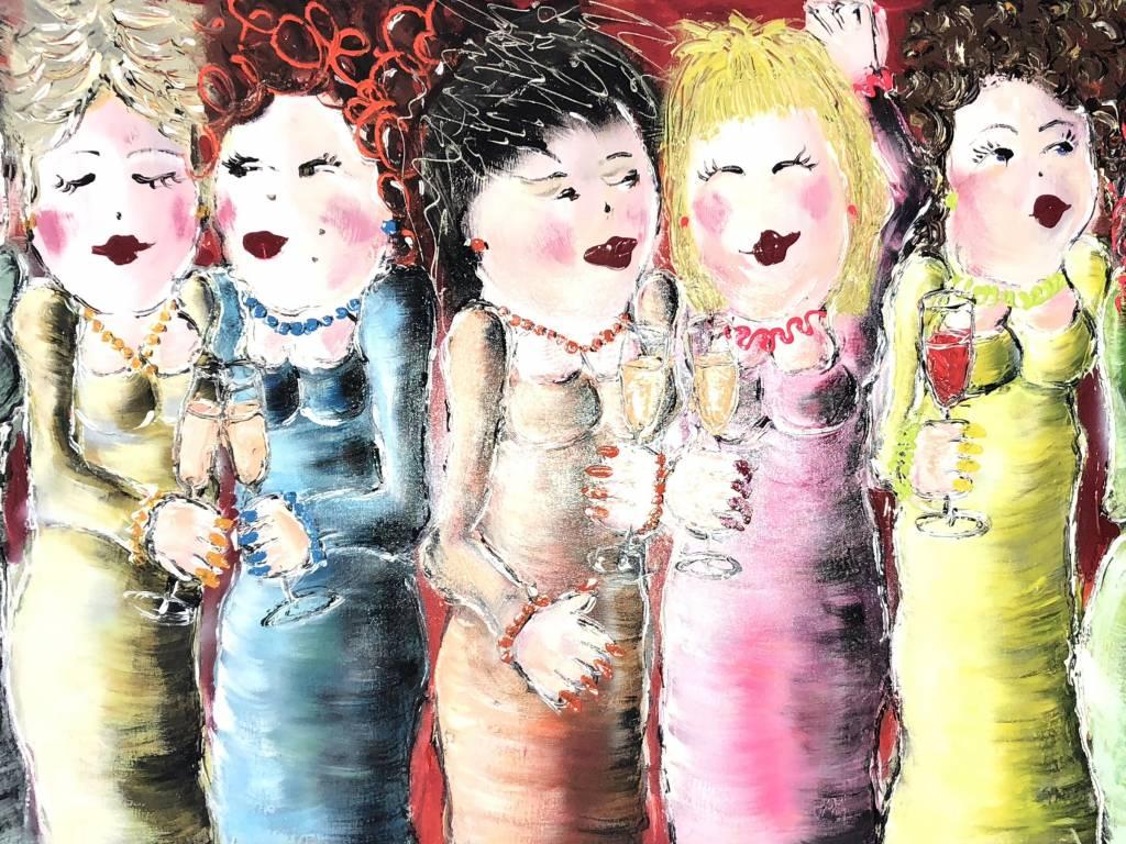 FEELGOOD schilderijen & producten Kunstdruk 'Girls time'