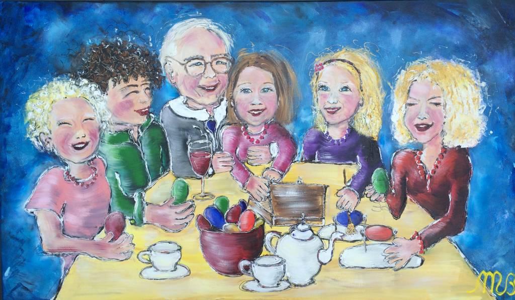 FEELGOOD schilderijen & producten Gepersonaliseerd schilderij 'Easter at granddaddy'