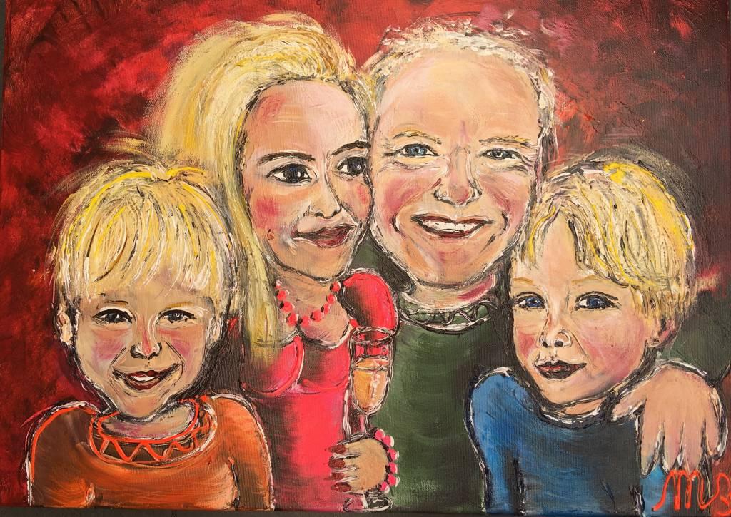 FEELGOOD schilderijen & producten Gepersonaliseerd schilderij 'Familie de Vreeze'