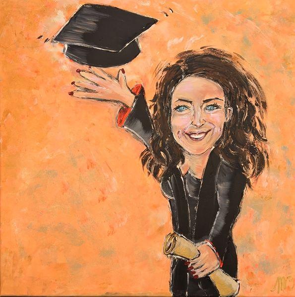 FEELGOOD schilderijen & producten Gepersonaliseerd schilderij 'Graduated'