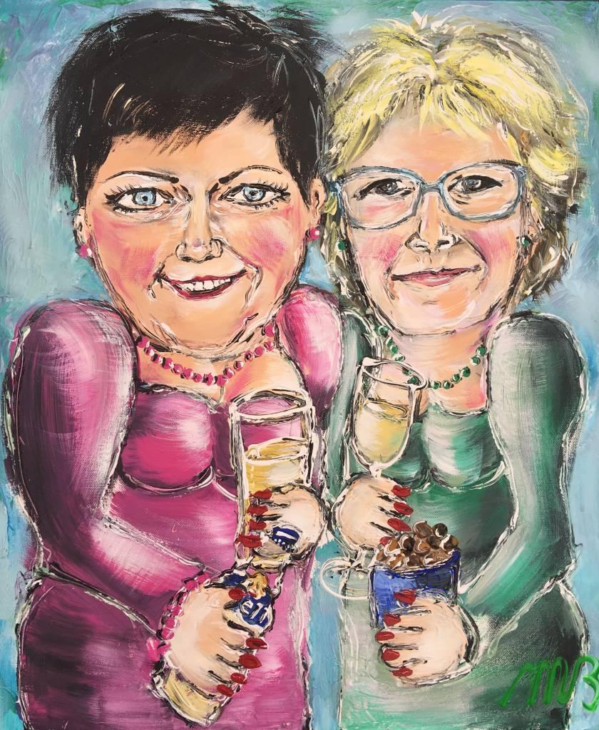 FEELGOOD schilderijen & producten Gepersonaliseerd schilderij 'Friends'