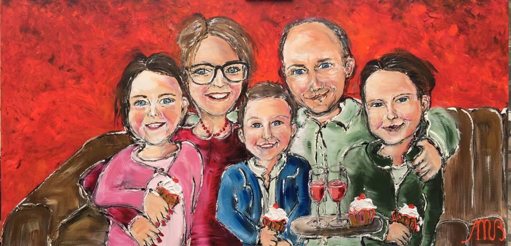FEELGOOD schilderijen & producten Gepersonaliseerd feelgood schilderij 'My family'