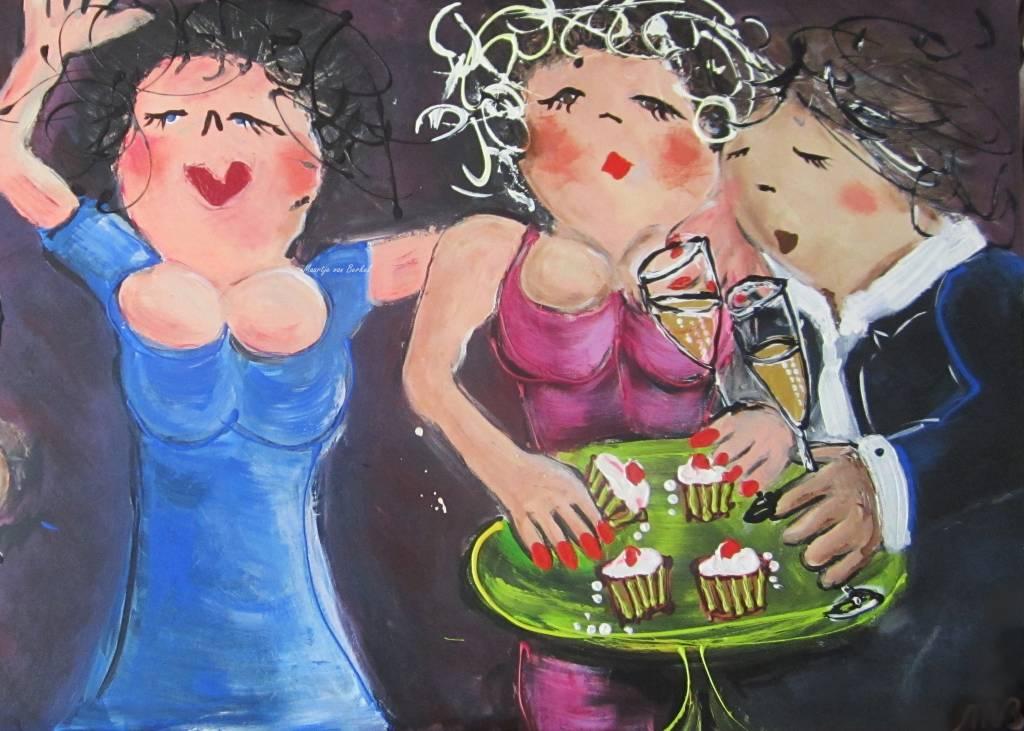 FEELGOOD schilderijen & producten Poster Bubbels and cake'