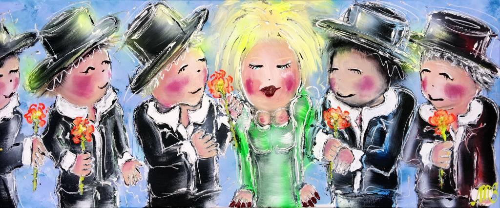 FEELGOOD schilderijen & producten Schilderij 'The adorable girl'