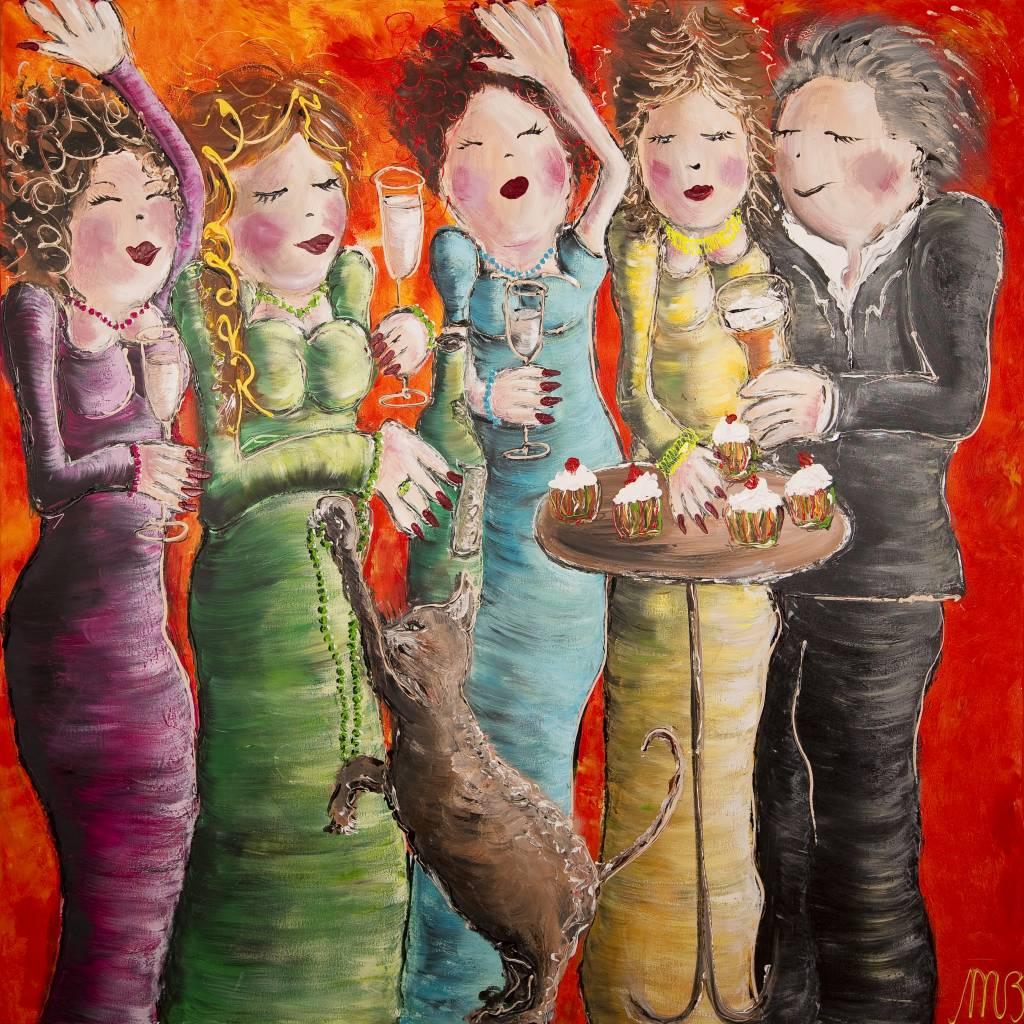 FEELGOOD schilderijen & producten Kunstdruk 'Party'