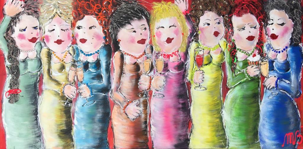 FEELGOOD schilderijen & producten Origineel I feel good' 70 x 140 x 2 cm