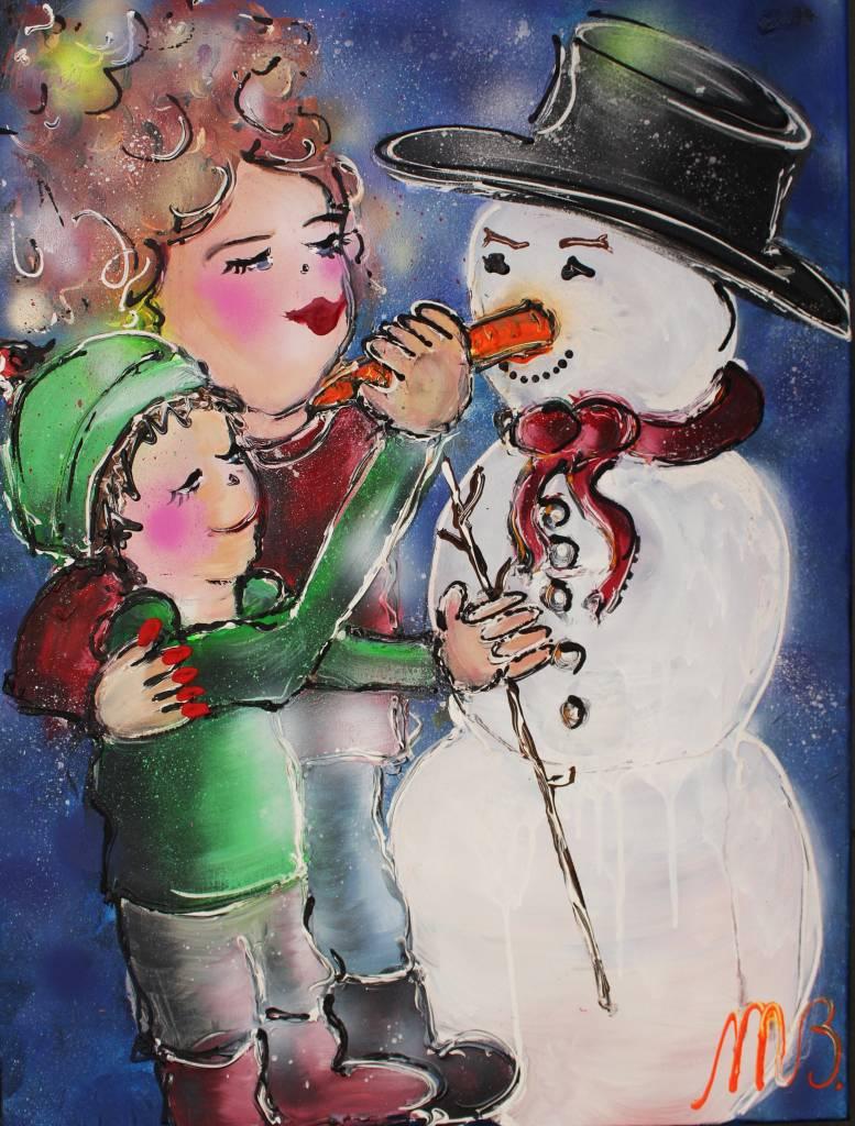 FEELGOOD schilderijen & producten Schilderij op voorraad 'let it snow' 60 x 80 x 2 cm