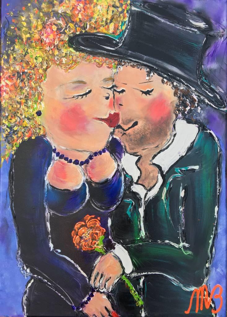 FEELGOOD schilderijen & producten Schilderij op voorraad 'Red lips' 50 x 70 x 4 cm