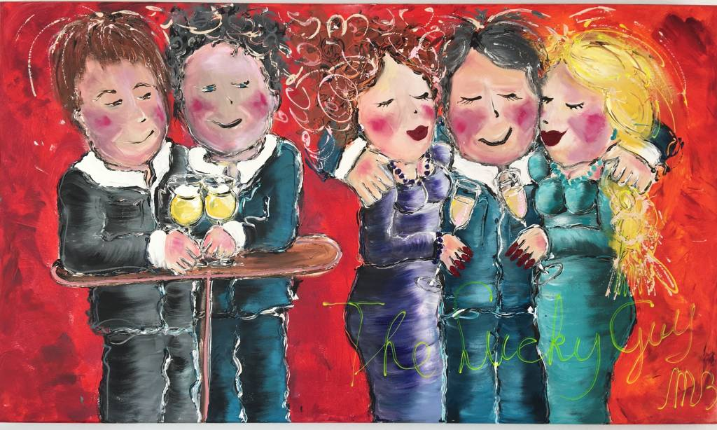 FEELGOOD schilderijen & producten Schilderij op voorraad 'The lucky guy' 70 x 120 cm