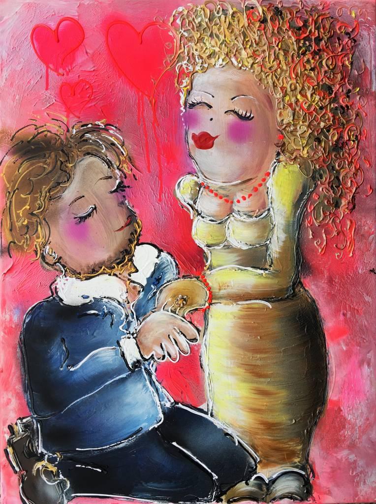 FEELGOOD schilderijen & producten Schilderij op voorraad 'True love' 60 x 80 x 4cm