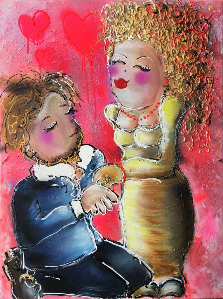 FEELGOOD schilderijen & producten Schildrrij op voorraad 'True love' 60 x 80 x 4cm