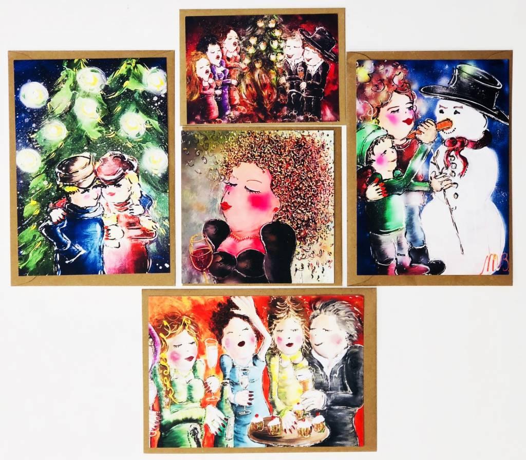 FEELGOOD schilderijen & producten Mix van 10 kerstkaarten