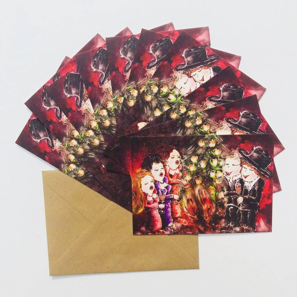 FEELGOOD schilderijen & producten Set van 10 kerstkaarten 'Merry X-MAS'