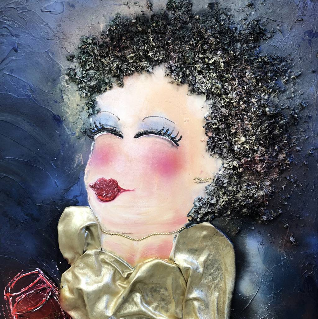 FEELGOOD schilderijen & producten Canvas print 'LADY IN GOLD'