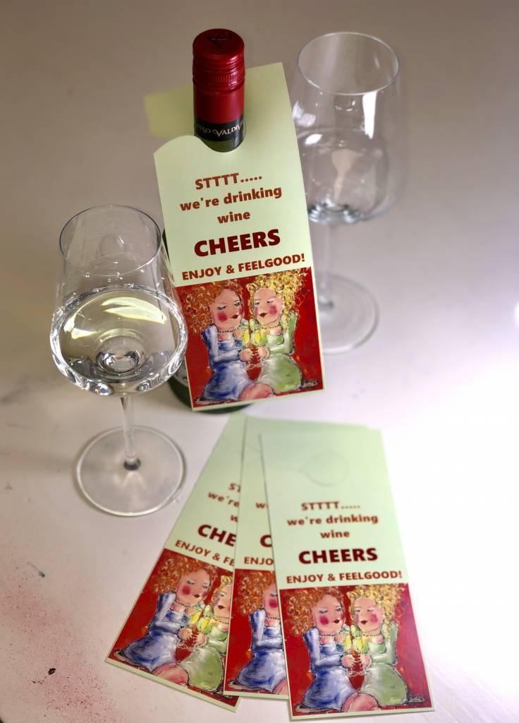 FEELGOOD schilderijen & producten Deur- wijnfleshanger