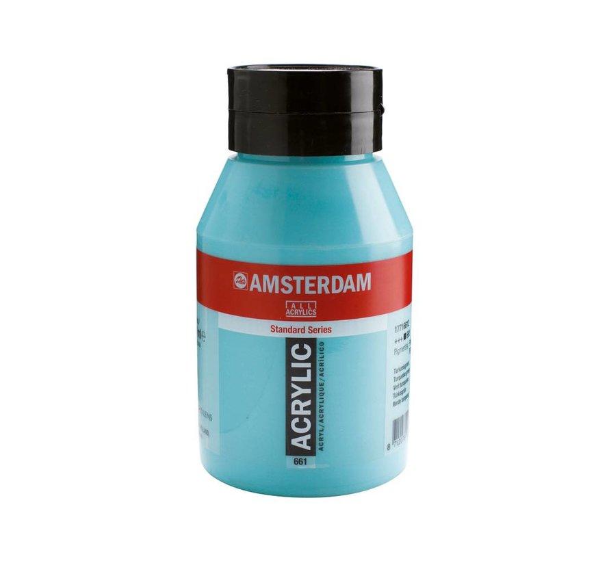 Amsterdam acrylverf 1 liter standard 661 Turkooisgroen