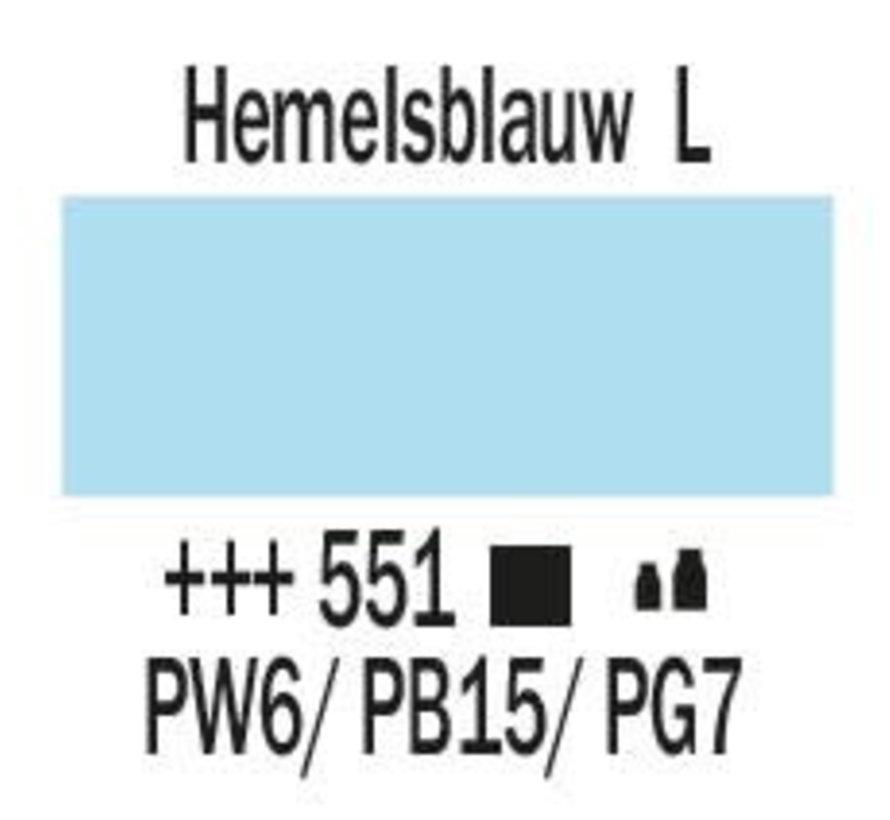 Amsterdam acrylverf 1 liter standard 551 Hemelsblauw licht