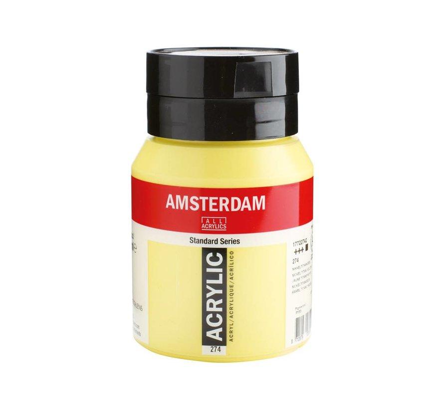 Amsterdam acrylverf 500ml standard 274 Nikkeltitaangeel