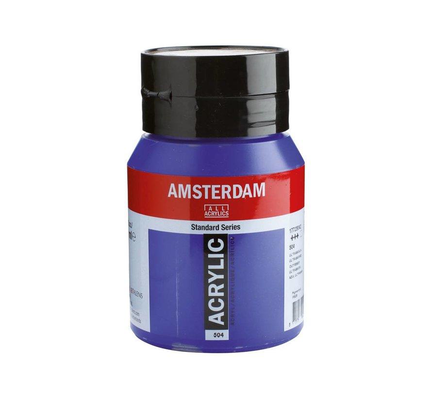 Amsterdam acrylverf 500ml standard 504 Ultramarijn