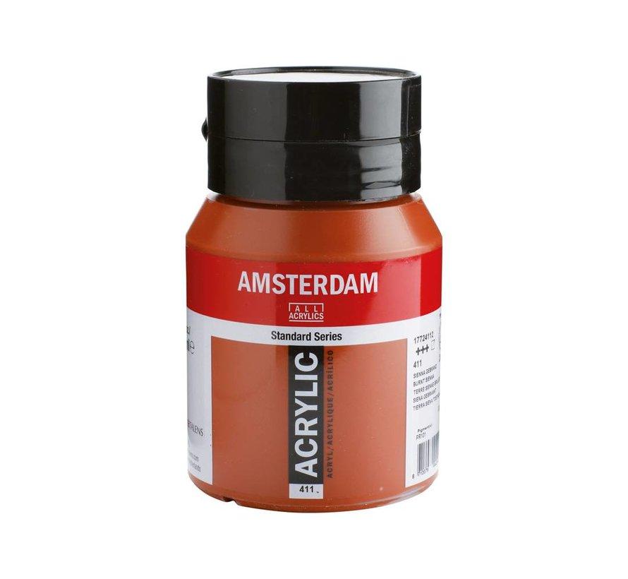 Amsterdam acrylverf 500ml standard 411 Sienna gebrand