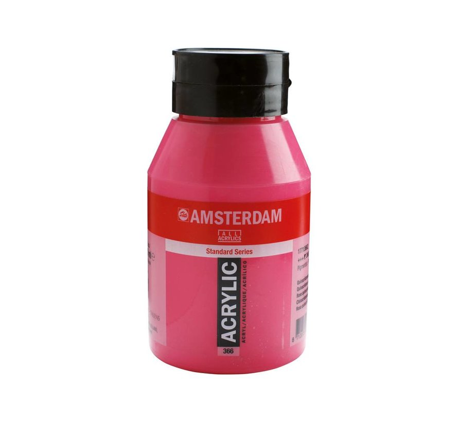 Amsterdam acrylverf 1 liter standard 366 Quinacridone rose