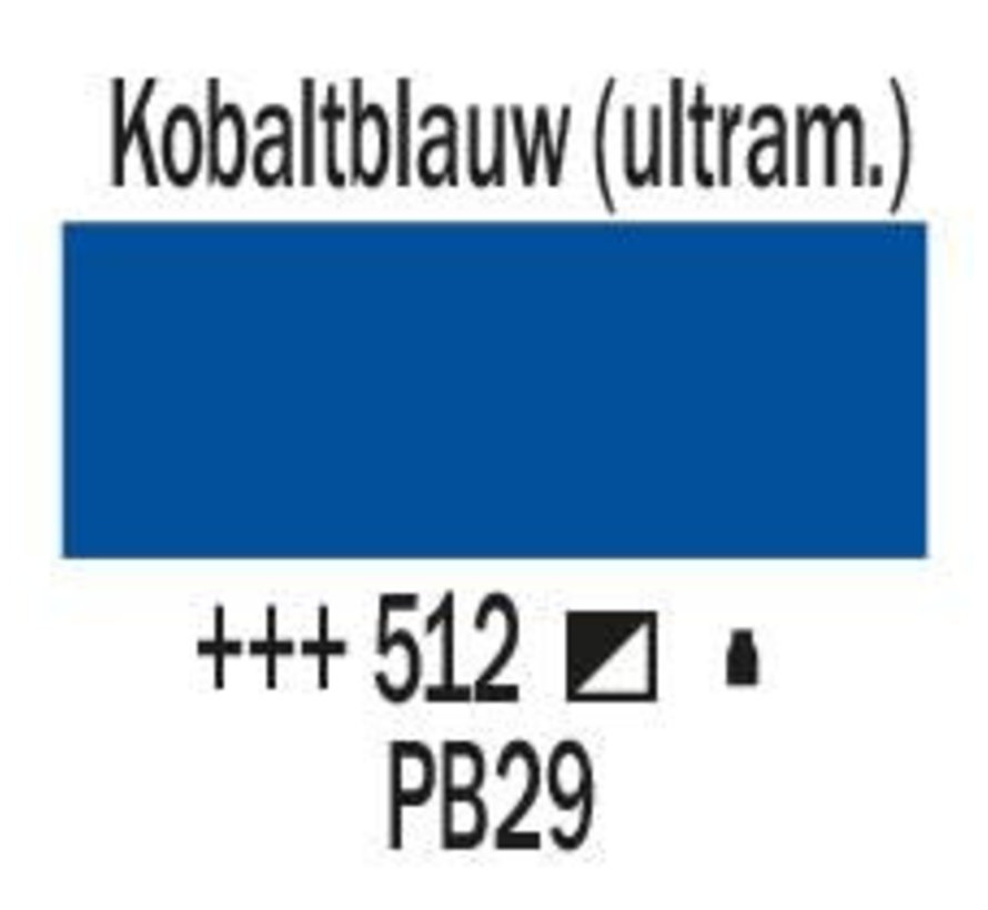 Amsterdam acrylverf 500ml standard 512 Kobaltblauw ultramarijn