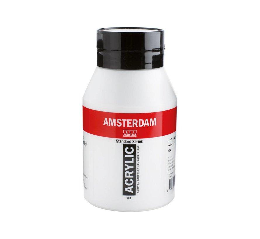 Amsterdam acrylverf 1 liter standard 104 Zinkwit