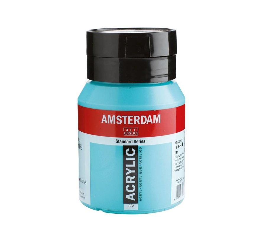 Amsterdam acrylverf 500ml standard 661 Turkooisgroen