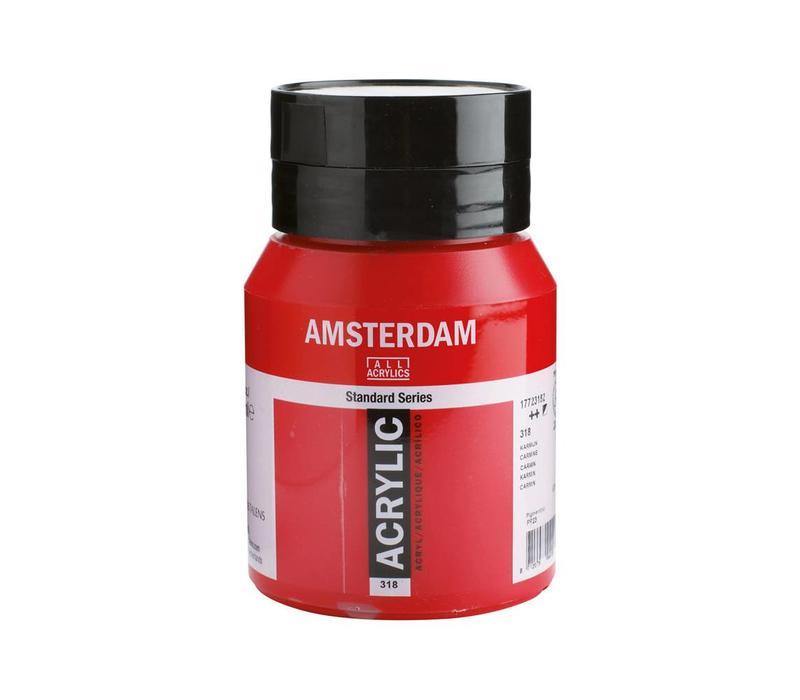 Amsterdam acrylverf 500ml standard 318 Karmijn