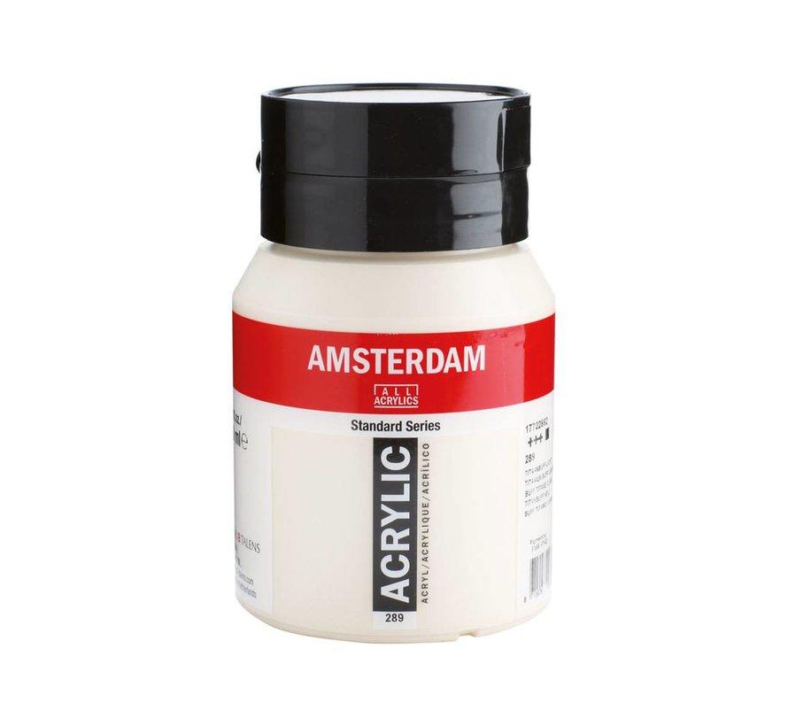 Amsterdam acrylverf 500ml standard 289 Titaanbuff licht