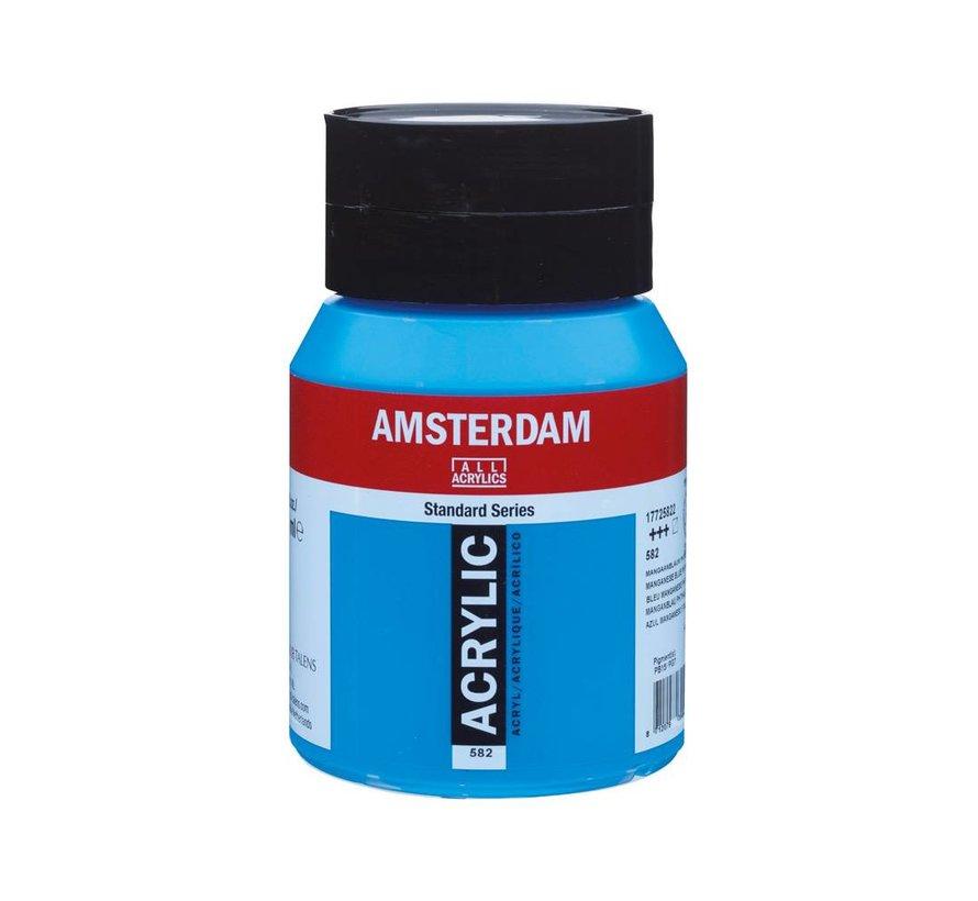 Amsterdam acrylverf 500ml standard 582 Mangaanblauw phthalo