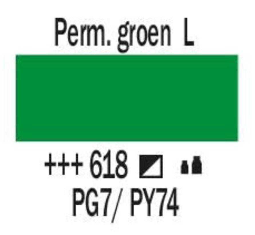 Amsterdam acrylverf 500ml standard 618 Permanentgroen licht