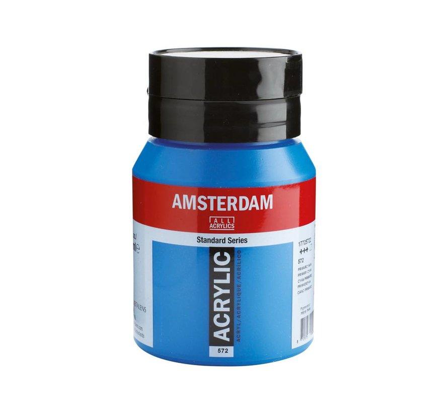 Amsterdam acrylverf 500ml standard 572 Primaircyaan